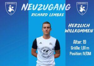 Read more about the article Neuzugang Richard Lembke