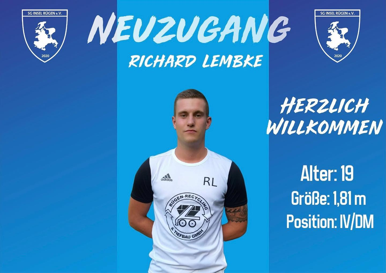 You are currently viewing Neuzugang Richard Lembke