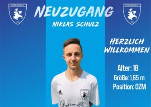 Read more about the article Neuzugang Niklas Schulz